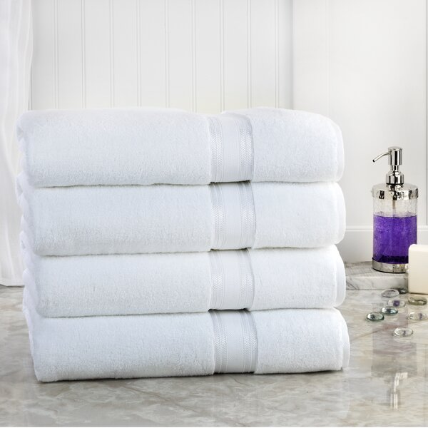 Brecken 100% Cotton Bath Sheet (Set of 4) by Eider & Ivory